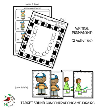 PHONICS AND PHONEMIC AWARENESS ALPHABET CENTER ACTIVITIES FOR THE LETTER U