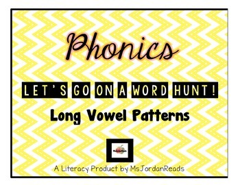 "PHONICS -- ""Let's Go On a Word Hunt"" -- Long Vowels"