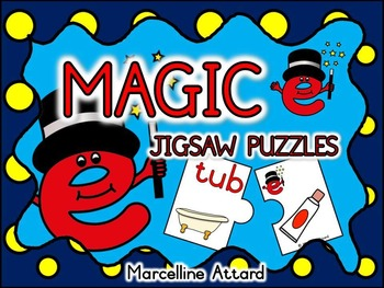 CVCe (MAGIC E) PUZZLES: LONG VOWELS CENTER: CVC+E PHONICS ACTIVITIES
