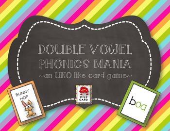 PHONICS MANIA:  VOWEL TEAMS & DIPHTHONGS-- AN UNO LIKE GAME