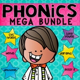PHONICS MEGA BUNDLE Blends, Digraphs, Diphthongs, Bossy R, CVC & more!