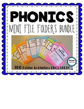 PHONICS MINI FILE FOLDER BUNDLE (elementary, Autism, Special Education)