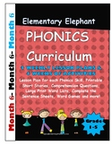 PHONICS-MONTH 6--Elementary Elephant Curriculum-Intervention/Special Ed./RTI