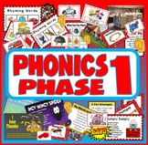 PHONICS PHASE 1 TEACHING RESOURCES LETTERS SOUNDS LITERACY ALPHABET EYFS