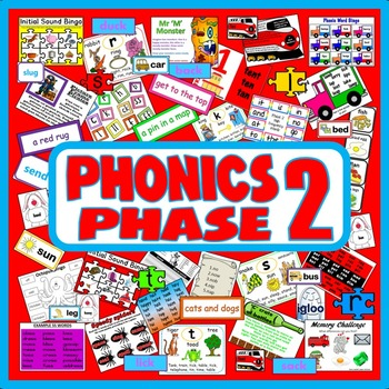PHONICS PHASE 2 TEACHING RESOURCES EYFS KS 1 LETTERS SOUNDS ALPHABET