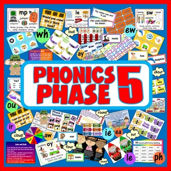 PHONICS PHASE 5 teaching resources, literacy, key stage 1,