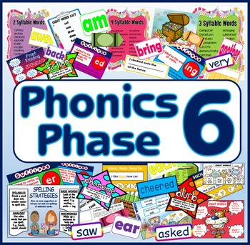 PHONICS PHASE 6 TEACHING RESOURCES LETTERS AND SOUNDS Key stage 1 - 2 DISPLA