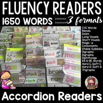PHONICS: PHONEMIC AWARENESS: FLUENCY READERS: INTERACTIVE NOTEBOOK