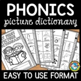 KINDERGARTEN PHONICS NO PREP PRINTABLES (ALPHABET PICTURE DICTIONARY FOR ELL)