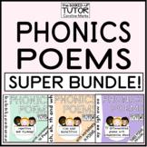PHONICS POEM BUNDLE short/long vowel sounds initial blend word families 72 poems