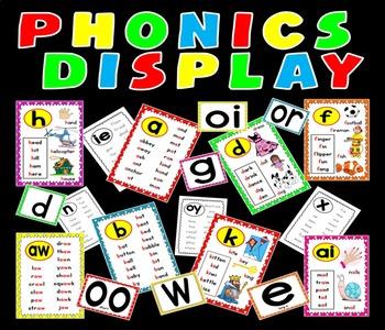 PHONICS POSTERS FLASHCARDS TEACHING RESOURCES KS1 EYFS LITERACY ALPHABET