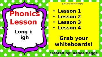 PHONICS POWER PACK 2: igh (long i)