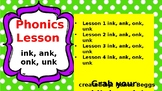 PHONICS POWER PACK 2: -ink, -ank, -onk, -unk