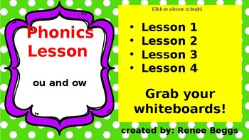 PHONICS POWER PACK 2: ou, ow