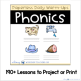PHONICS Unit 4 Paperless Daily Warm Up Lessons