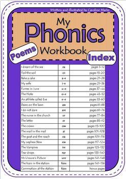 PHONICS Poems Workbooks 1 and 2 BUNDLE No Prep easy decode