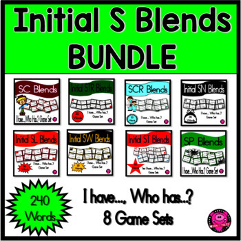 Initial Consonant Blends with S Games Bundle