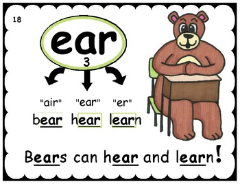 Phonics Skill and Corresponding High Frequency Word Student Sheets, Posters