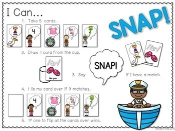 PHONICS ~ SNAP! Phonics Game Bundle