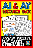 VOWEL TEAMS ACTIVITIES (AI AND AY VOWEL TEAM WORKSHEETS, V