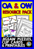 VOWEL TEAMS OA AND OW WORKSHEETS AND ACTIVITIES, PHONICS CENTERS