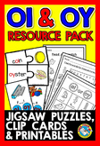 OI AND OY VOWEL TEAMS WORKSHEETS AND ACTIVITIES (PHONICS CENTERS VOWEL DIGRAPHS)