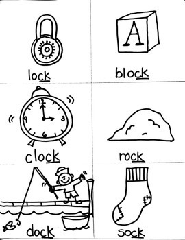 PHONICS TARGETS  /ACK/  UCK/  /OCK/  WORD FAMILIES  for FIRST GRADE ARTISTS