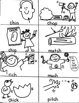 PHONICS TARGETS  /CH/  /TCH/  for FIRST GRADE ARTISTS
