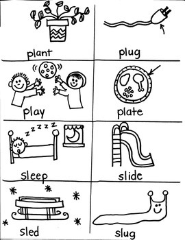 PHONICS TARGETS  /L/  BLENDS/CLUSTERS for FIRST GRADE ARTISTS
