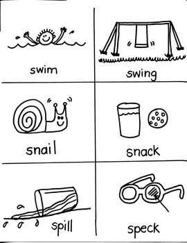 PHONICS TARGETS  /S/  BLENDS / CLUSTERS for FIRST GRADE ARTISTS