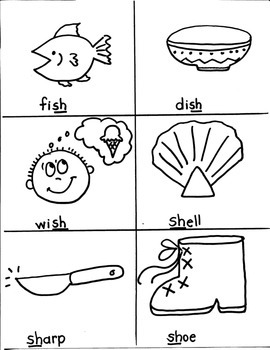 PHONICS TARGETS  /SH/  for FIRST GRADE ARTISTS
