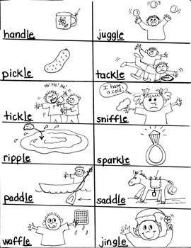 PHONICS TARGETS    SYLLABLE  /LE/   for FIRST GRADE ARTISTS