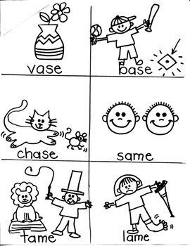 PHONICS TARGETS (long  /a/  word families) for FIRST GRADE ARTISTS