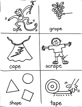 PHONICS TARGETS (long  /a/  word families) for FIRST GRADE