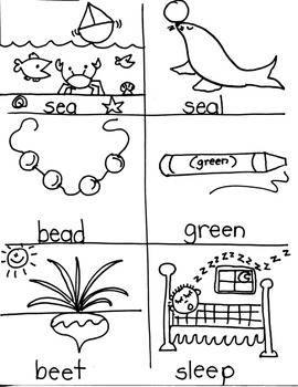 PHONICS TARGETS (long  /e/  word families) for FIRST GRADE ARTISTS
