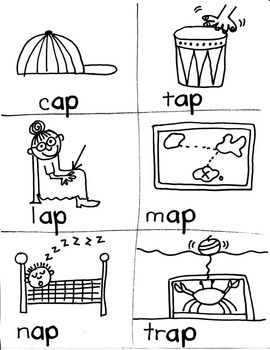PHONICS TARGETS (short  /a/  word families) for FIRST GRADE ARTISTS