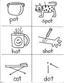 PHONICS TARGETS (short  /o/  word families) for FIRST GRADE ARTISTS