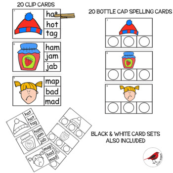 PHONICS TASK CARDS FOR SHORT A CVC WORDS FOR EMERGENT READERS
