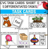 PHONICS TASK CARDS FOR SHORT O CVC WORDS FOR EMERGENT READERS