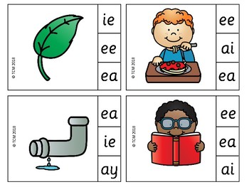 PHONICS - VOWEL TEAM Clip It!
