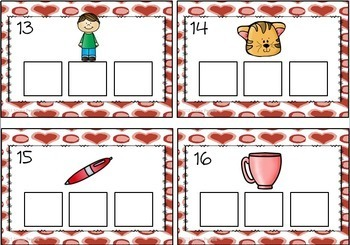 Valentine's Day Literacy Center-Phonics (CVC)