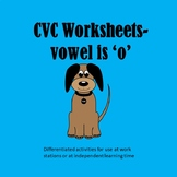 PHONICS WORKSHEETS - CVC - o is the vowel