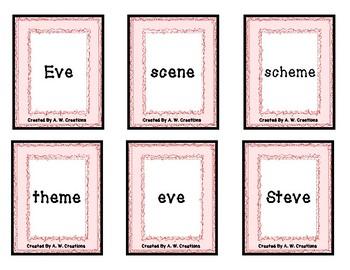 PHONO! Long Vowel CVCe Words (Uno) Card Game PHONICS