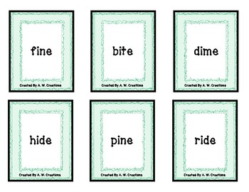 PHONO! Long Vowel CVCe Words (Uno) Card Game FREEBIE