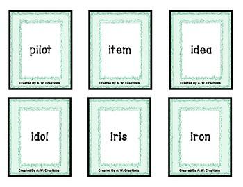 PHONO! Long Vowel Words (Uno) Card Game FREEBIE PHONICS