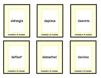PHONO! Prefixes (Uno) Card Game PHONICS FREEBIE