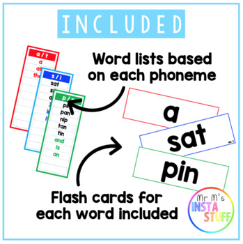 PHONOLOGICAL AWARENESS // FLASH CARDS AND WORD LISTS // STAGE 1 //
