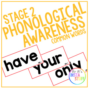 PHONOLOGICAL AWARENESS // STAGE 2 // PHONICS AND COMMON WORDS BUNDLE