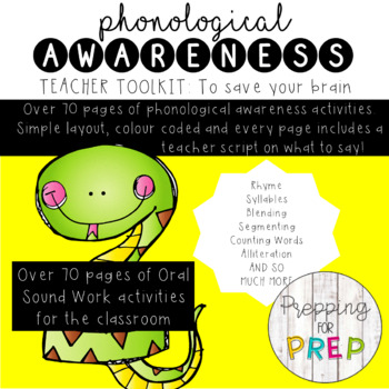 PHONOLOGICAL AWARENESS- TOOLKIT AND INTERACTIVE POWERPOINT BUNDLE