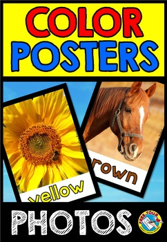 PHOTO COLOR POSTERS WITH REAL PHOTOS: CLASSROOM DECOR: COLORS PRINTABLES